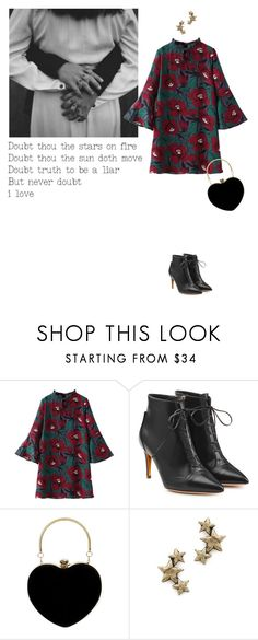 """Never doubt i love"" by tasteofbliss ❤ liked on Polyvore featuring Remington, WithChic, Rupert Sanderson and Avant Garde Paris"