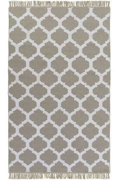 Quatrefoil Gray Outdoor Flatweave Rugs - durable indoor rug, too. For dining areas, kitchens, and entryways.