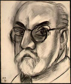 "Henri Matisse self-portrait. 1937. From ""100 Self-Portrait Drawings from 1484 to Today"""
