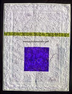 """Spring! (Back of the quilt) Quilts by Marisela original design. 42""""x 31"""" Free Motion Quilting without marking."""