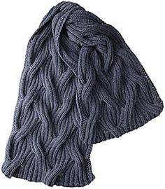 Waves Scarf by Knit Picks Design Team A generous chill-chaser in undulating on Ravelry