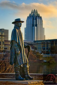 Stevie Ray Vaughan Statue, Auditorium Shores, Downtown Austin, Texas