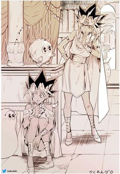 Pharaoh Atem and Yugi Muto Yu Gi Oh, Anime Love, Anime Guys, Atem Yugioh, Movies And Series, Fanarts Anime, Anime Artwork, Doujinshi, Akira