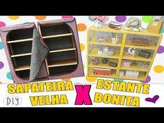 SAPATEIRA ARTESANAL E DECORATIVA FEITA COM MATERIAL RECICLÁVEL - YouTube