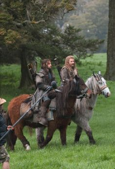 """Watch the ponies""  *five minutes later*  Bilbo: what's wrong?  ""We've lost the ponies""  Kili, Fili...you need to pay better attention, lads. haha."