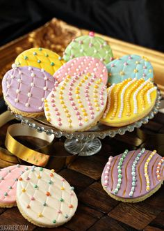 Faberge Egg Sugar Cookies | From SugarHero.com