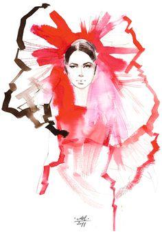 Pure red & black - Anna Halarewicz