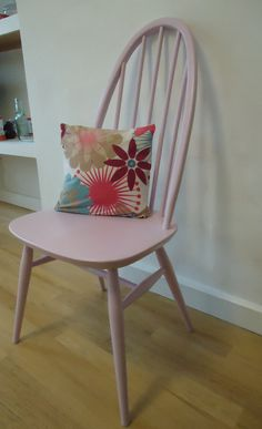 Ercol Windsor chairs. Pink. Upcycled. by DoubleDAREHomewares, £75.00