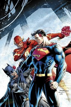 Jim Lee's Flash Anniversary Variant Cover To Batman/Superman Dc Heroes, Comic Book Heroes, Comic Books Art, Hq Marvel, Marvel Dc Comics, Dc Comics Characters, Dc Comics Art, Jim Lee Batman, Jim Lee Art