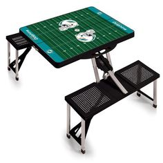 NFL Collectibles - Picnic Table Sport (Miami Dolphins) Digital Print - Black