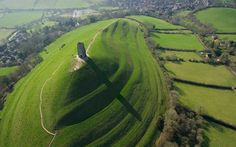 Britain From Above: Month by Month by Jason Hawkes | Glastonbury Tor is home to myths and legends and possibly the last resting place of King Arthur