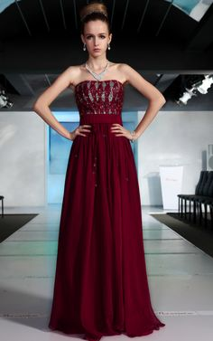 In Stock Tencel Chiffon Sheath Strapless Neckline Long Prom Dress 30502 - Prices & Buy at ShopSimple.com