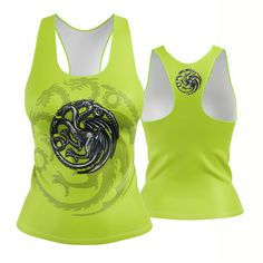 Custom Racerback / Tank Top- in our G.O.T House Targaryen (available in multiple colors) Game of Thrones  If you would like a color you dont see here please message us and we can create one for you. Made in the USA. -Custom Racerback Tank Top designed, printed, cut and sewn to order in Phoenix, AZ -Great gift for her -82% Polyester / 18% Spandex blend. -4 way stretch which means fabric stretches and recovers both on the cross and lengthwise grains -These high quality Racerbacks will...