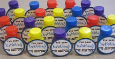 'I've been bubbling with excitement to meet you' - Back to school gift for students (I'm going to rephrase this to use for an end of year gift because I have leftover wedding bubbles :)