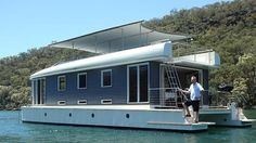 THE designer of the world's first solar-powered houseboat