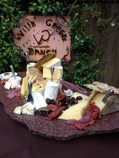 Rustic Elegance...serving Idea for the Cheese Display (by www.villacreek.com)