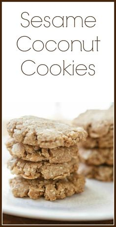 Sesame coconut cookies that are to die for. | This recipe is healthy ...