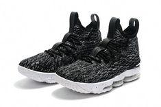 check out 1a2a3 85e55 Newest 2018 Men Nike Lebron 15 Basketball Shoes Ashes Black Grey White