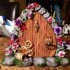Fairy Door!! - POTTERY, CERAMICS, POLYMER CLAY  - Knitting, sewing, crochet, tutorials, children crafts, jewlery, needlework, swaps, papercrafts, cooking and so much more on Craftster.org