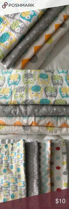 Set of 4 gender neutral receiving blankets, Carter Set of 4 gender neutral receiving blankets, Carter's, washed a few times so some wash wear. Carter's Accessories