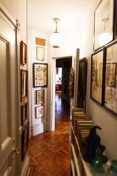 Hallway bookshelves