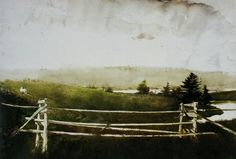 Andrew Wyeth (1917 — 2009, USA)  Toll Gate. watercolor.