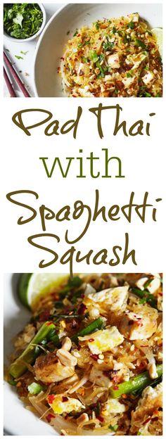Clean Eating Pad Thai with Spaghetti Squash paleo dinner spaghetti squash Clean Eating Recipes, Healthy Eating, Cooking Recipes, Asian Recipes, Vegetarian Recipes, Healthy Recipes, Paleo Dinner, Recipes Dinner, Favorite Recipes