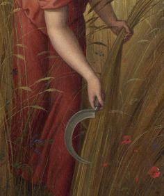 """Lugnasad:  Cutting the harvest, at #Lugnasad ~ """"Ruth in Boaz's Field,"""" by Julius Schnorr von Carolsfeld."""