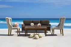 Mobiliario para bodas / Wedding furniture   #bodasenplaya #decoracion #cancun #hotel #paquetedebodas #cancun #rivieramaya #belaircancun #