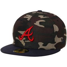 Atlanta Braves New Era Rip Right 2-Tone 59FIFTY Fitted Hat - Camo/Navy