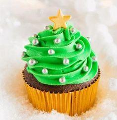 Kerstboom cupcakes recept | Dr. Oetker