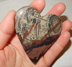 Indian Paint Stone Heart by earthlightgems on Etsy