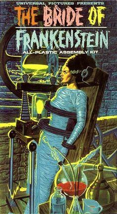 Bride of Frankenstein model kit box by Aurora