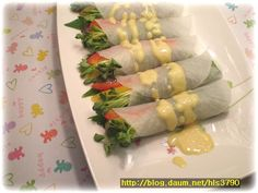 Asian Recipes, Healthy Recipes, Ethnic Recipes, Healthy Food, Bulgogi, Korean Food, Fresh Rolls, Asparagus, Food And Drink