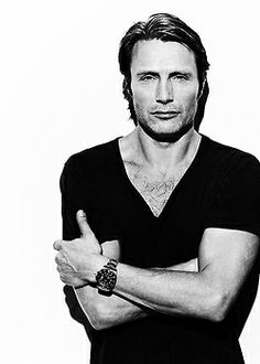 Mads Mikkelsen.  Never heard of him until Hannibal but MAAN did he bring  himself to my attention!  Sexy sexy ohhh so sexy.  Can't wait for season 2 (which starts February 28th - SUCH a good birthday present)