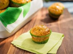Get Sunny's Easy Bacon and Cheese Stuffed Corn Muffins with Jalapeno Jelly Glaze Recipe from Food Network