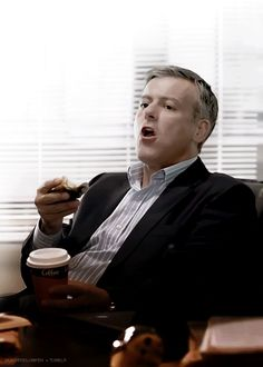 That looks like a really, really good doughnut. < No wonder he did'nt want to get up and go | The Reichenbach Fall