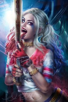 Harley Quinn - Suicide Squad by Eeddey Harley Quinn Tattoo, Harley Quinn Drawing, Harley Quinn Comic, Harley Quinn Cosplay, Harley Quinn And The Joker, Dc Comics, Comics Girls, Catwoman, Daddys Lil Monster
