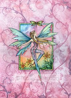 Fairy Fantasy Art Print by Molly Harrison 'Spring Jubilation' 9 x 12