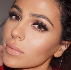 Her makeup is on point. Soft and neutral.
