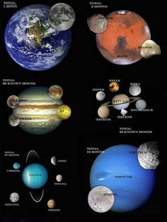 "Moons of the Solar System ~ Mik's Pics ""Cosmos"" board Cosmos, Space Planets, Space And Astronomy, Astronomy Facts, Astronomy Science, Science Experience, Planets And Moons, Moons Of Saturn, Outer Space"