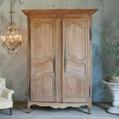 Antique Gorgeous Oak Armoire From Provence C. 1780   I Soooo Want A Wardrobe !