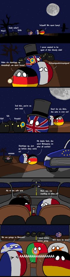 The Chase ( UK, Germany, France, Greek, Portugal, Cyprus ) by Winnable Waffle  #polandball #countryball