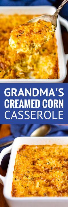 Grandma's Cream Corn Casserole Recipe | Unsophisticook