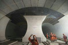 Tunnel work - Swiss Alps