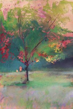 "Saatchi Art Artist Jon Wassom; , ""Tree and Figures"" #art"