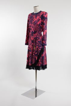 1980's Averardo Bessi Silk Dress | From a collection of rare vintage evening dresses and gowns at https://www.1stdibs.com/fashion/clothing/evening-dresses/