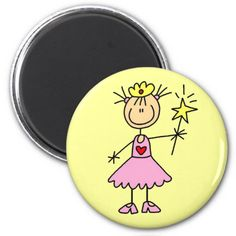 Princess With Wand Magnet