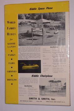 VINTAGE 1950s KIDDIE SPACE PLANE ADVERTISING POSTER! CARNIVAL RIDE! CHAIRPLANE! | eBay
