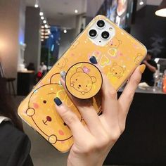 Cute Cartoon Glitter Silicone Stand Phone Case For iPhone X XR XS MAX Cover For iPhone 11 Pro Max 8 7 Plus 6 6S Blingbling Case | Touchy Style Glitter Phone Cases, Iphone Phone Cases, Iphone 11, Glitter Flowers, Coque Iphone, Iphone Models, Phone Holder, Bling, Mobile Accessories